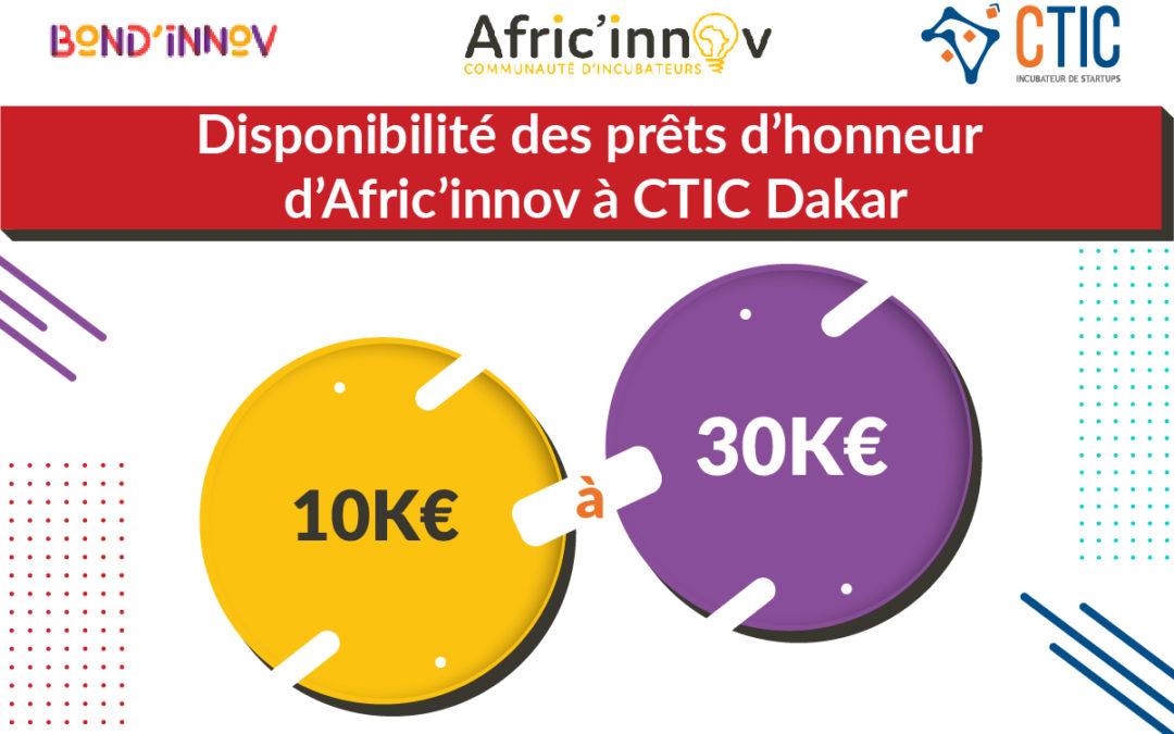 CTIC Dakar lance un fonds de prêt d'honneur dédié aux entrepreneurs du Sénégal, avec l'appui de l'AFD, Bond'innov et Afric'innov